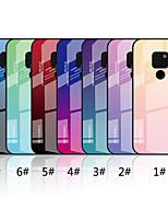 Недорогие -Кейс для Назначение Huawei Huawei Mate 20 Lite / Huawei Mate 20 Зеркальная поверхность / С узором Кейс на заднюю панель Градиент цвета Твердый Закаленное стекло для Mate 10 lite / Huawei Mate 20 lite