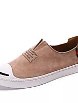 Недорогие -Муж. Комфортная обувь Полиуретан Весна На каждый день Мокасины и Свитер Дышащий Черный / Серый / Миндальный