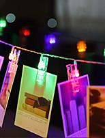 baratos -BRELONG® 3M Cordões de Luzes 20 LEDs SMD 0603 Branco Quente Impermeável / Criativo / Festa Baterias AA alimentadas 1pç