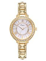 Недорогие -Жен. Наручные часы Кварцевый Серебристый металл / Золотистый / Розовое золото Новый дизайн Повседневные часы Имитация Алмазный Аналоговый На каждый день Мода -  / Один год / Один год