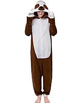 abordables -Adulte Pyjamas Kigurumi La paresse Combinaison de Pyjamas Polaire Marron Cosplay Pour Homme et Femme Pyjamas Animale Dessin animé Fête / Célébration Les costumes