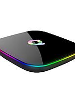 Недорогие -PULIERDE Q + TV Box Android 8.1 TV Box Cortex-A53 4GB RAM 64Гб ROM Quad Core Новый дизайн