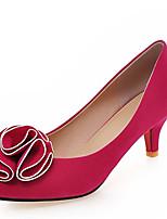 Недорогие -Жен. Синтетика Весна & осень Обувь на каблуках На шпильке Заостренный носок Черный / Пурпурный