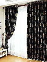 Недорогие -Солнцезащитные Шторы занавески затемнения 2 шторы 2*(W107cm×L213cm) Серебряный / Спальня