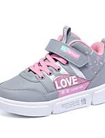 Недорогие -Девочки Обувь Кожа Зима Удобная обувь Кеды На липучках для Серый / Персиковый / Розовый