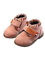 Недорогие -Девочки Обувь Замша Зима Удобная обувь / Модная обувь Ботинки для Дети (1-4 лет) Черный / Военно-зеленный / Розовый