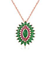 Недорогие -женская мода сплав бирюзовое ожерелье