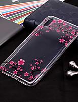 Недорогие -Кейс для Назначение Apple iPhone XR / iPhone XS Max Прозрачный / С узором Кейс на заднюю панель Цветы Мягкий ТПУ для iPhone XS / iPhone XR / iPhone XS Max