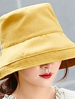 Недорогие -Жен. Активный / Классический Берет / Широкополая шляпа / Шляпа от солнца Однотонный