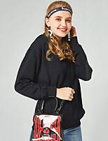 Недорогие -Тонкая толстовка с длинным рукавом для женщин - однотонный с капюшоном, белый хз
