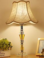 Недорогие -Простой Декоративная Настольная лампа Назначение Спальня Хрусталь 220 Вольт