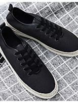 Недорогие -Муж. Комфортная обувь Лён Лето Кеды Черный / Бежевый / Зеленый