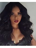 Недорогие -человеческие волосы Remy Полностью ленточные Лента спереди Парик Бразильские волосы Глубокий курчавый Парик Ассиметричная стрижка 130% 150% 180% Плотность волос Мягкость Сияние Sexy Lady
