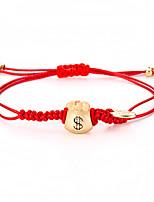 Недорогие -Плетение Браслет дружбы - Везучий Простой стиль, Мода Золотой Назначение Повседневные Жен.