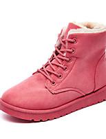 Недорогие -Жен. Замша Зима Ботинки На плоской подошве Ботинки Серый / Коричневый / Розовый