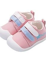 Недорогие -Девочки Обувь Искусственная кожа Весна & осень Удобная обувь / Обувь для малышей На плокой подошве для Дети (1-4 лет) Черный / Розовый