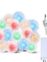Недорогие -BRELONG® 10 м Гирлянды 100 светодиоды RGB Водонепроницаемый / Творчество / Для вечеринок 220-240 V