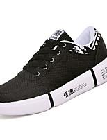 Недорогие -Муж. Комфортная обувь Лён Зима На каждый день Кеды Нескользкий Контрастных цветов Черный / Бежевый