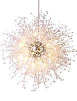 abordables -澳斯丹鼎 Circulaire Lustre Lumière d'ambiance Chrome Plaqué Métal Style mini, Protection des Yeux, Créatif 110-120V / 220-240V Blanc Crème / Blanc Neige