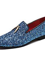 Недорогие -Муж. Официальная обувь Синтетика Весна & осень На каждый день / Английский Мокасины и Свитер Нескользкий Белый / Синий / Для вечеринки / ужина