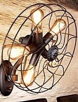 Недорогие -Cool Ретро Настенные светильники кафе Металл настенный светильник 220-240Вольт 40 W