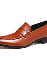 Недорогие -Муж. Официальная обувь Синтетика Весна & осень Классика / На каждый день Мокасины и Свитер Нескользкий Коричневый / Синий / Винный