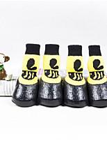 baratos -Gatos / Cachorro Sapatos e Botas Casual / Prova-de-Água Desenho Animado Amarelo Para animais de estimação