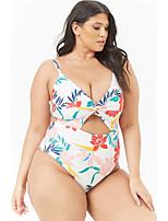 abordables -Femme Basique Blanc Slip Brésilien Bikinis Maillots de Bain - Géométrique XL XXL XXXL