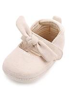 Недорогие -Мальчики / Девочки Обувь Хлопок Весна & осень Удобная обувь / Обувь для малышей На плокой подошве для Ребёнок до года Светло-синий / Миндальный / Хаки