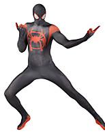 abordables -Collants Superhéros Costume Zentai Costumes de Cosplay Noir Imprimé Collant / Combinaison Costume Zentai Lycra Unisexe Noël Halloween Nouvel an