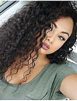 Недорогие -человеческие волосы Remy 360 Лобовой Парик Бразильские волосы Кудрявый Парик Ассиметричная стрижка 150% Плотность волос с детскими волосами Женский Удобный Природные волосы 100% девственница