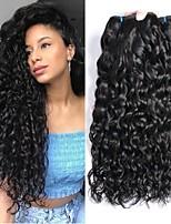 abordables -Lot de 3 Cheveux Brésiliens Cheveux Indiens Ondulation 8A Cheveux Naturel humain Cheveux humains Naturels Non Traités Cadeaux Costumes Cosplay Casque 8-28 pouce Couleur naturelle Tissages de cheveux