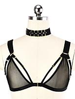 Недорогие -Женский Сексуальные платья На бретелях Бюстгальтер Треугольные чашки - Однотонный
