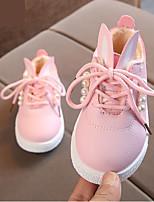 Недорогие -Девочки Обувь Синтетика Наступила зима Удобная обувь Кеды Жемчуг для Дети / Дети (1-4 лет) Белый / Зеленый / Розовый