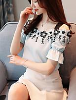 Недорогие -Жен. С кисточками Блуза Классический Однотонный