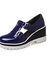 abordables -Femme Cuir Verni Printemps & Automne Chaussures à Talons Creepers Bout rond Boucle Noir / Beige / Violet