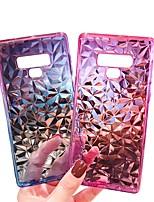 abordables -Cooho Coque Pour Samsung Galaxy Note 9 / Note 8 Antichoc / Etanche à la Poussière / Strass Coque Dégradé de Couleur Flexible faux cuir / PC pour Note 9 / Note 8