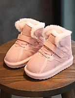 Недорогие -Девочки Обувь Кожа Зима Удобная обувь / Зимние сапоги Ботинки для Дети Черный / Серый / Розовый