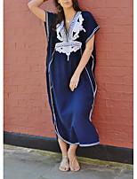 abordables -Femme Bleu Jupe Vêtement couvrant Maillots de Bain - Géométrique Imprimé Taille unique