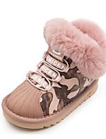Недорогие -Девочки Обувь Синтетика Зима Удобная обувь / Зимние сапоги Ботинки для Дети / Для подростков Серый / Розовый