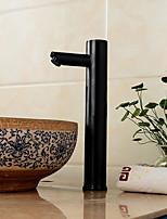 Недорогие -Ванная раковина кран - Датчик Черная оксидная отделка Другое Руки свободно одно отверстиеBath Taps