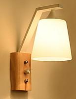 Недорогие -Cool Современный современный Настенные светильники Спальня Дерево / бамбук настенный светильник 220-240Вольт 40 W