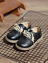 Недорогие -Мальчики / Девочки Обувь Кожа Наступила зима Удобная обувь Туфли на шнуровке Шнуровка для Дети Черный / Коричневый