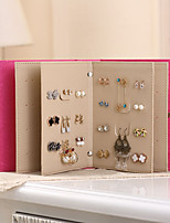 abordables -Fête de Mariage / Fête d'anniversaire PU Boîte d'anneau / Boîtes à cadeaux / Ecrin Mariage - 1 pcs