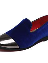 Недорогие -Муж. Официальная обувь Шёлк / Бархат Весна & осень На каждый день / Английский Мокасины и Свитер Нескользкий Черный / Синий / Винный / Для вечеринки / ужина