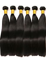 abordables -Lot de 6 Cheveux Brésiliens Cheveux Indiens Droit 8A Cheveux Naturel humain Cheveux humains Naturels Non Traités Cadeaux Costumes Cosplay Casque 8-28 pouce Couleur naturelle Tissages de cheveux