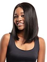 Недорогие -человеческие волосы Remy 6x13 Тип замка Парик Бразильские волосы Крупные кудри Парик Стрижка боб 130% Плотность волос Женский Мода Удобный 100% девственница Нейтральный Жен. Короткие