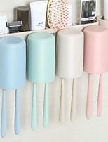 Недорогие -Стакан для зубных щеток Креатив Современный современный Пластик 1 комплект Зубная щетка и аксессуары