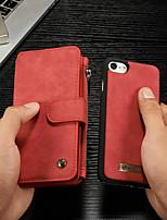 Недорогие -CaseMe Кейс для Назначение Apple iPhone 8 / iPhone 7 Кошелек / Бумажник для карт / со стендом Чехол Однотонный Твердый Кожа PU для iPhone 8 / iPhone 7