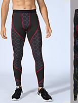 abordables -Homme Mosaïque Pantalon de yoga - Bleu, jacinthe + Gris, Gris + Vert. Des sports 3D Print Collants Course / Running, Fitness, Gymnastique Tenues de Sport Power Flex, Stretch 4 voies Haute élasticité